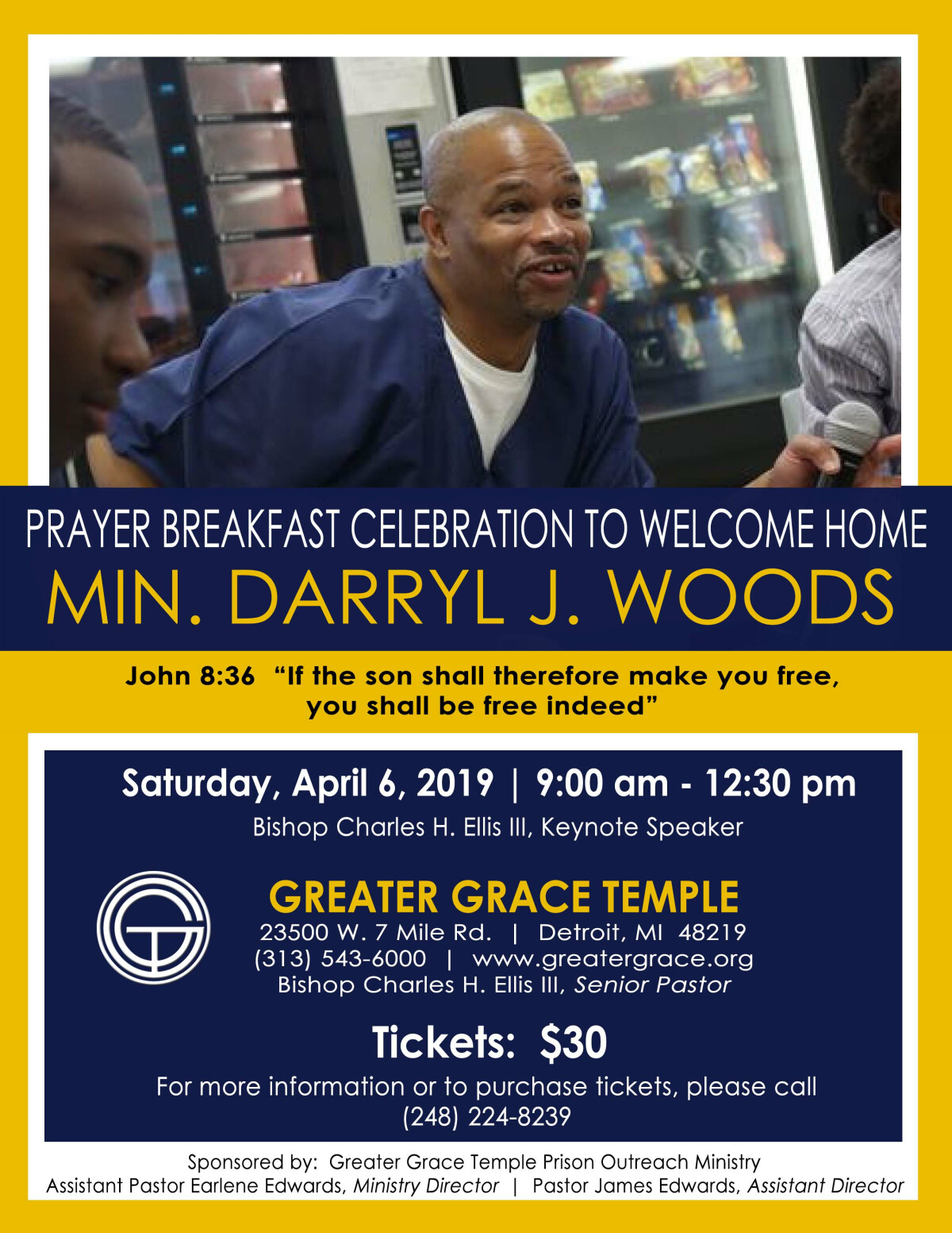 Prayer Breakfast Celebrating Min. Darryl Woods