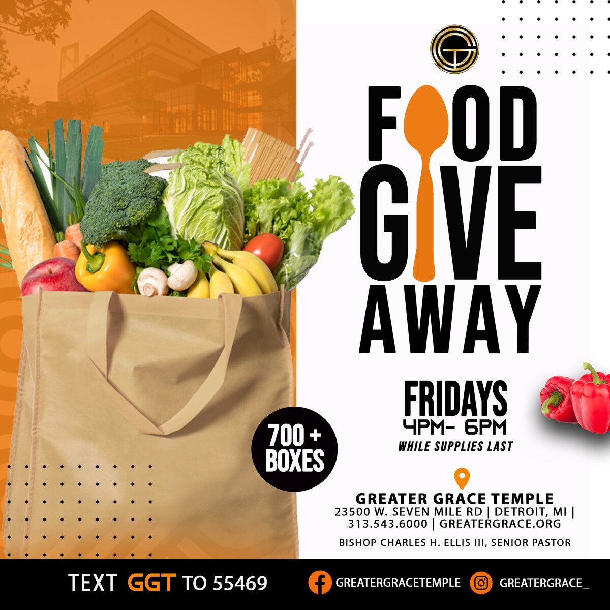 Greater Grace Food Giveaway