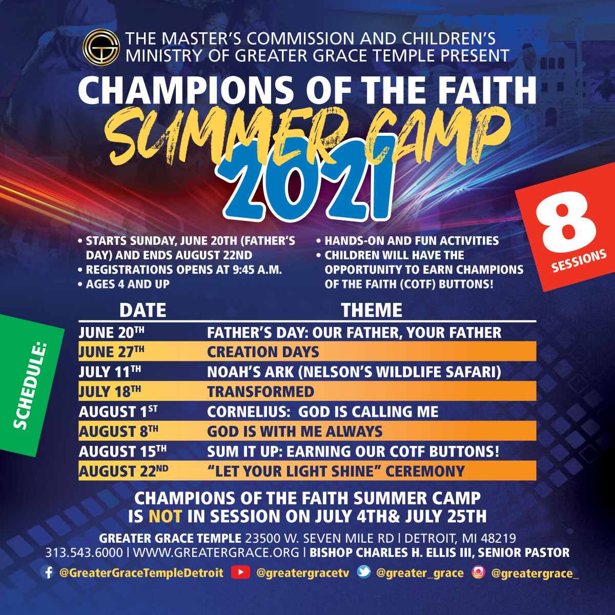 Champions of The Faith Summer Camp
